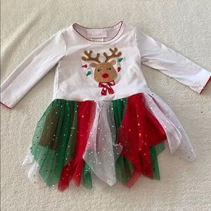 Bonnie Baby reindeer sequin tunic size 6 to 9 m